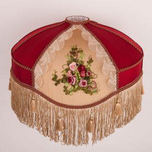 ратро абажур с вышивкой марлин изготовтитель moon room