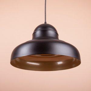 дизайнерский светильник из металла черный