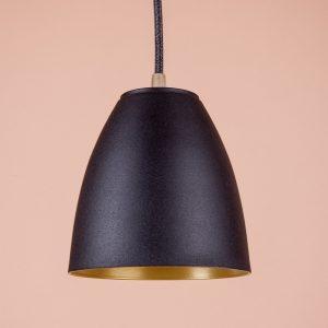 Металлический плафон регги подвесной черный матовый золото