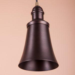 Металлический плафон Джимми из алюминия черный матовый