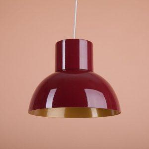Яркий металлический светильник подвесной красный золото