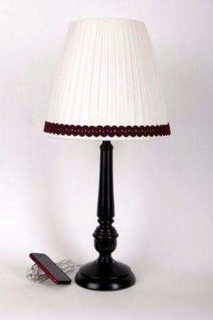 купить настольную лампу с белым абажуром