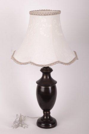 купить деревянную настольную лампу черного цвета