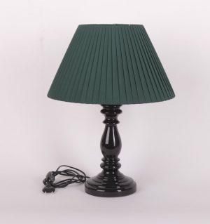 темно зеленая настольная лампа