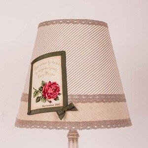 абажур в стиле прованс для настольной лампы