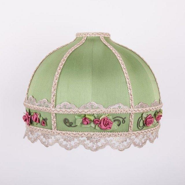 зеленый абажур в стиле ретро зе