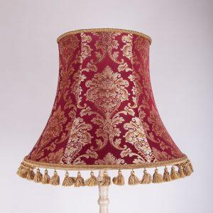 классический красный абажур для торшера