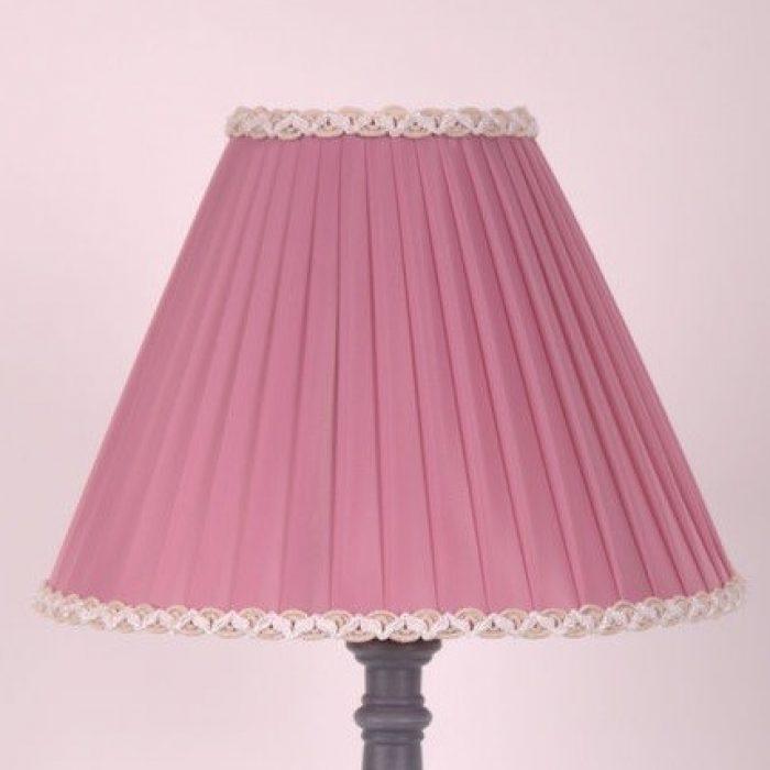 заказать классический абажур розово сиреневого цвета