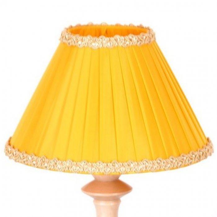 купить желтый абажур для настольной лампы