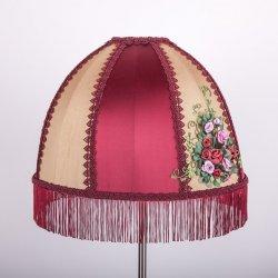 дизайнерский светильник с вышивкой шелковой лентой