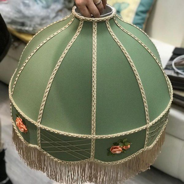 ретро абажур Стасия с вышивкой
