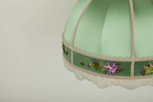 зеленый абажур для настольных ламп
