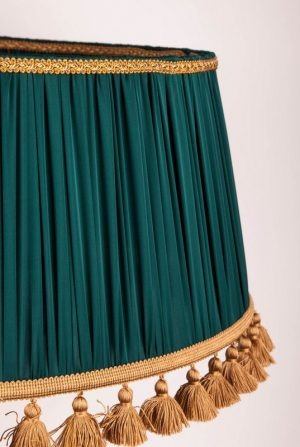 зеленая ткань для абажура, ретро абажур, классический абажур Moon Room