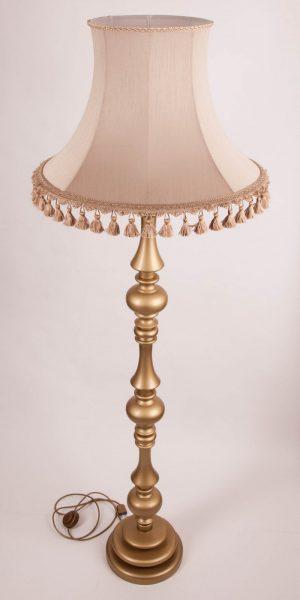 Торшер напольный с абажуром флинт 9 золотой из дерева