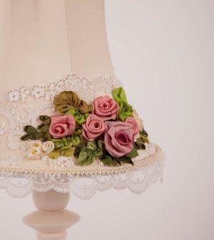 настольная лампа с розами