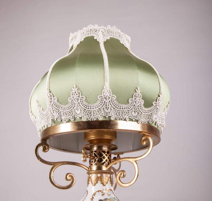 абажур из ткани для антикварной лампы на заказ