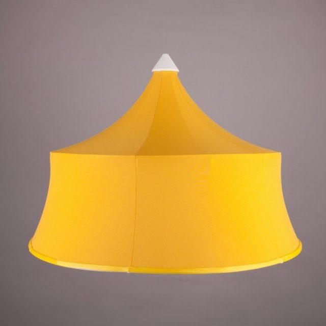 тканевый абажур желтый