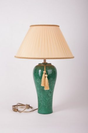 настольная лампа с абажуром , мрамор, фарфор, керамика