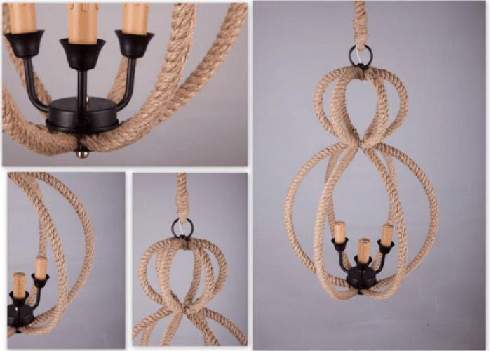 абажур из каната-морская тематика