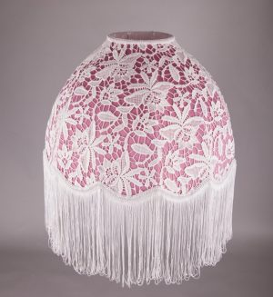 розовый абажур с кружевом-3