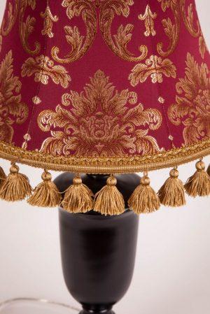 абажур с кистями для настольной лампы