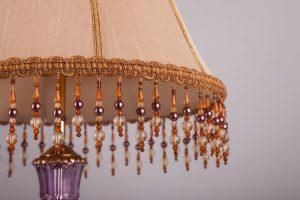 абажур для лампы со стеклярусом