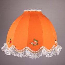 оранжевый подвесной абажур