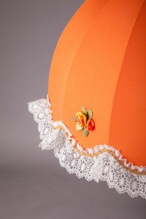 оранжевый тканевый абажур