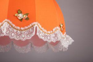 оранжевый подвесной абажур как в ссср