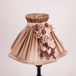 абажур в форме юбке для настольной лампы