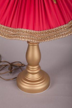красно золотая настольная лампа