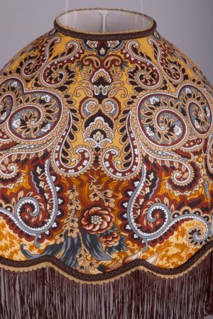подвесной абажур ретро форма из ткани узоры