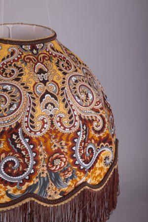 абажур классический ретро форма подвесной с узорами