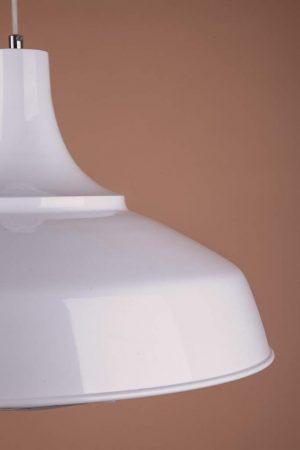 плафон в стиле лофт подвесной белый с решекой