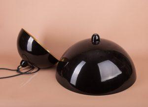 черный светильник полусфера металлический подвесной