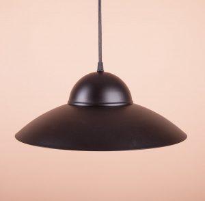 дизайнерский светильник из металла покраска в черный матовый цвет