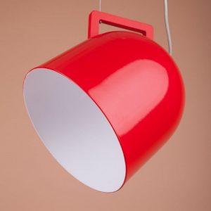металлический подвесной плафон в виде чашки