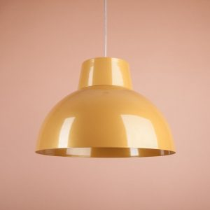 яркий металлически светильник желтый купить