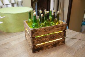 светильник в стиле лофт с бутылками