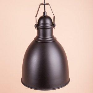 металлический светильник ручной работы черный матовый