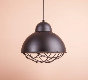 купить Металлический светильник в стиле лофт черного цвета