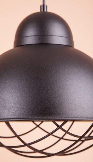 Алюминиевый плафон подвесной решетка черный
