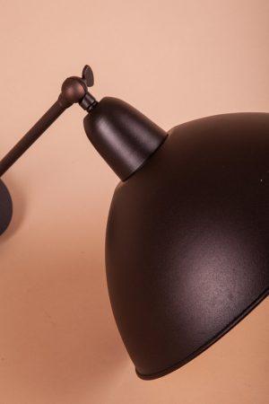 оригинальная форма бра настенное из металла черный матовый цвет