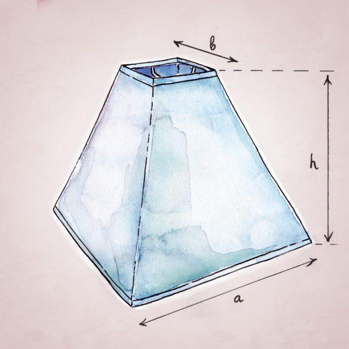 как измерить абажур