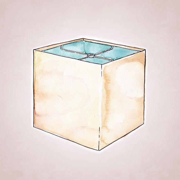 абажур в форме куба