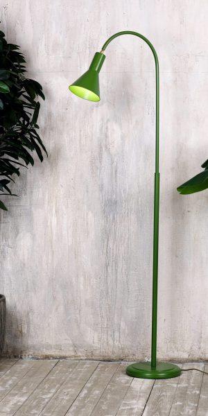 стальной торшер с устойчивым основанием для loft интерьера