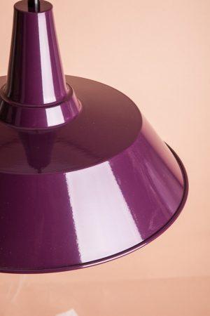 стильный фиолетовый подвесной плафон из металла