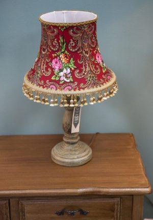 платочные узоры на лампе