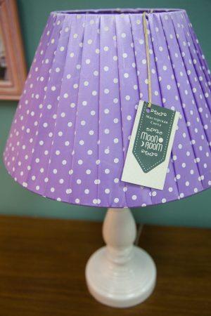настольная лампа лавандового цвета