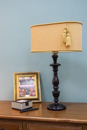 настольная лампа с абажуром для кабинета